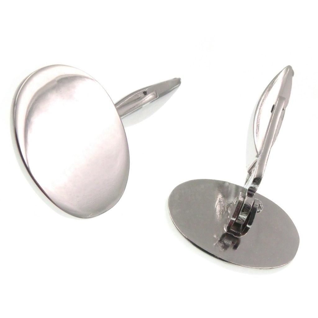 nuovo prodotto de88d 8aa6f Gemelli uomo ovali in argento 925‰ per camicia
