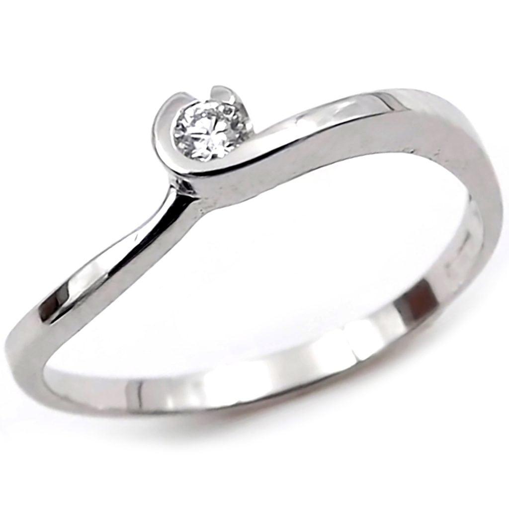 design di qualità 155fc bd21d Solitario anello oro bianco 18 kt . per fidanzamento