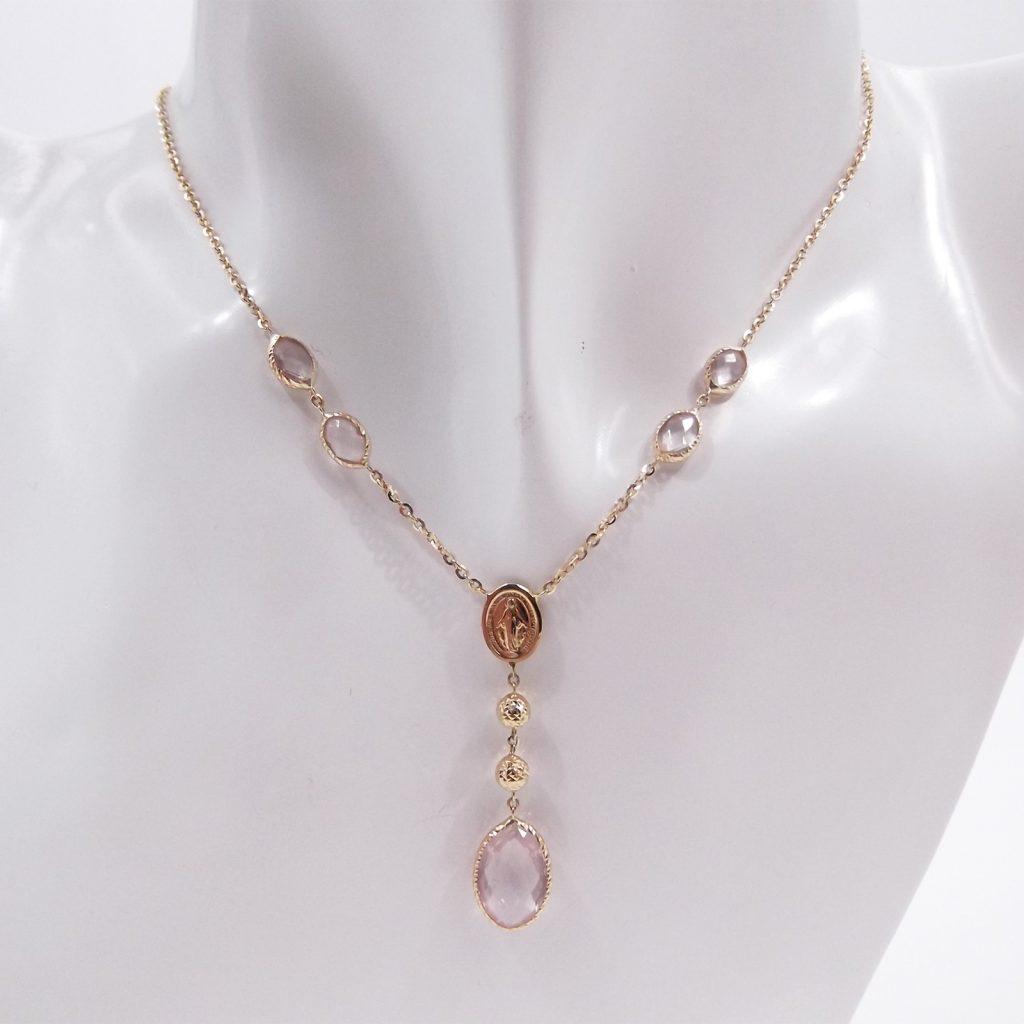 collana rosario religiosa