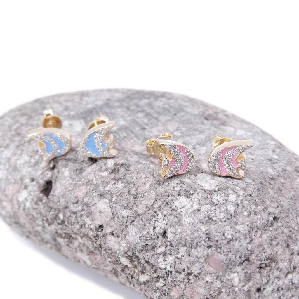 orecchini in oro pesce