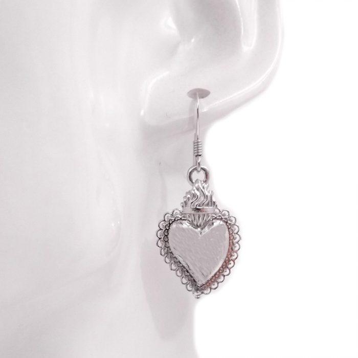 orecchini cuore sacro