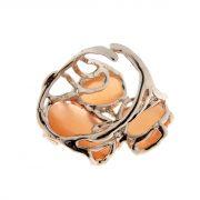 anello con pietre dure occhio di gatto