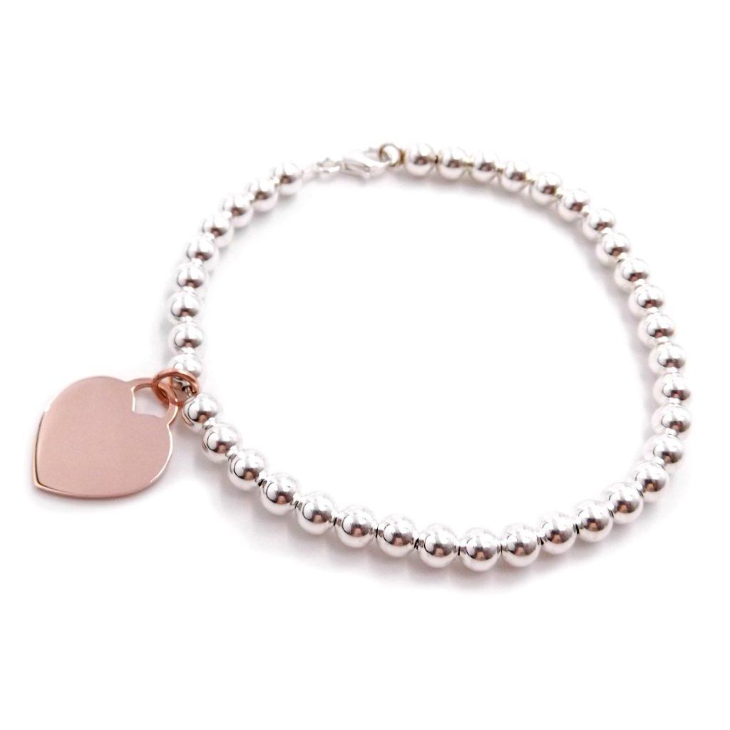 bracciale con cuore rosa
